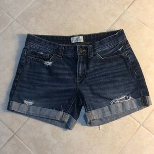 🍎Aeropostale Distressed Jean Shorts, 3/4